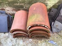 Reclaimed Half Round Ridge Tiles - Clay