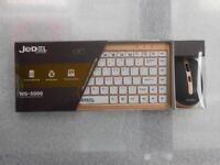 JEDEL COMPACT WIRELESS KEYBOARD AND MOUSE SET BRAND NEW WITH RECEIPT