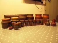 Hornsea Pottery Tea, Sugar and Coffee Jars