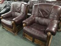 Stunning full leather 3 11 sofa set as new