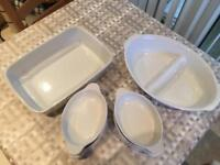 Set of 8 oven to table dishes/serving dishes