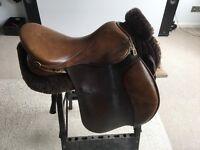 GFS GP Brown leather saddle.