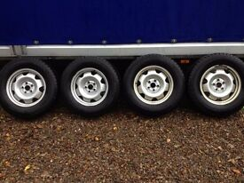 T5 Banded Steel Wheels with Winter Tyres suit VW Amarok
