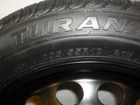 "new 16"" bridgestone turan steel wheel and new tyre, the size is 205/55/ r16 91v"
