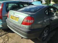 2001 TOYOTA AVENSIS VERMONT VVT-I (MANUAL PETROL)- FOR PARTS ONLY