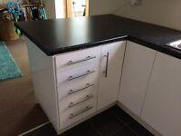 White high gloss ikea kitchen and appliances