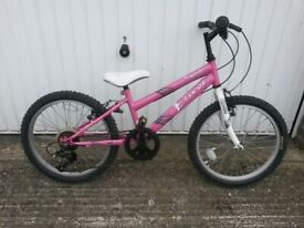 Girls Bike Pink 6speed Bike suitable around age 8 in excellent condition and working order