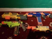 Nerf guns and accessories with 100s of bullets