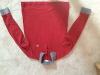 Moncler jumper polo top red and Gray