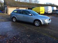 52 AUDI A4 1.9 TDI DIESEL ESTATE CAR PD CLUTCH NEARLY GONE SPARES REPAIRS £495