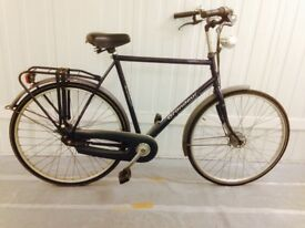 Large classic Dutch Hybrid bike 60 cm Hub Gears excellent Condition