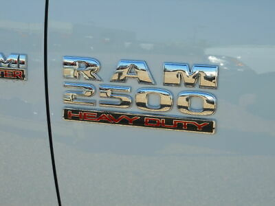 "DODGE RAM 2500 Set of 2 Chrome Red  ""RAM 2500 Heavy Duty"" emblems NEW OEM MOPAR"