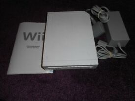 Wii console with power supply only
