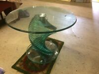 Contemporary glass occasional table