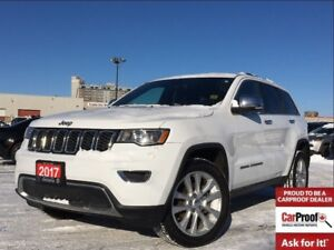 2017 Jeep Grand Cherokee LIMITED**LEATHER**8.4 TOUCHSCREEN**SUNR