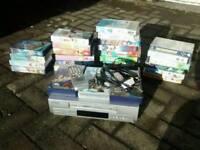 34 Disney videos plus Hitachi VHS player