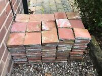 """Genuine Victorian Terracotta Floor Tiles (6"""" x 6"""" approx)"""