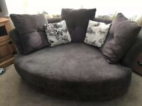 3 seater sofa and cuddle chair swap or sale
