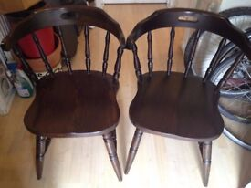 2 WOODEN CHAIRS - £15 EACH - 07543398434