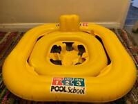 Baby inflatable pool seat