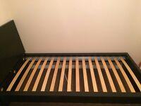 Ikea single bed black colour