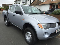2008 MITSUBISHI L200 4 WORK 2.5 DIESEL CREW CAB TOW BAR CHEAPEST IN UK NO VAT