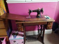 Original treddle sewing machine