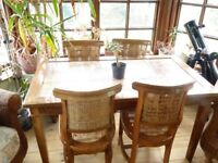 Conservatory style Dining table & Chairs