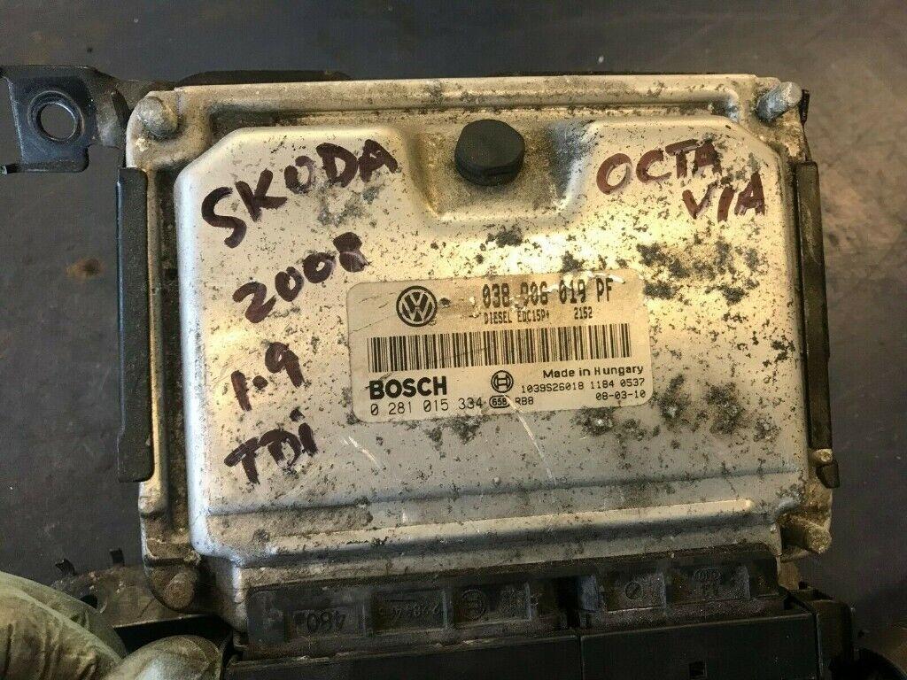 2008 SKODA OCTAVIA 1 9 TDI ENGINE CONTROL UNIT ECU 038906019PF 0281015334  EDC15P BREAKING £120 | in Luton, Bedfordshire | Gumtree