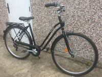 B'TWIN ELOPS 500 STEP OVER CLASSIC BIKE - BLACK, used 6 times, in very good condition