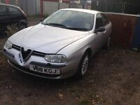 Alfa Romeo 156 silver breaking for parts / spares wings boot Ect