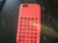 BRAND NEW GENUINE APPLE IPHONE 5C PINK CASE