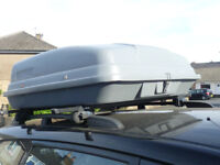 ROOF BOX SPACIOUS , GREY, SIDE OPENING ROOF RACK/BAR MOUNTED