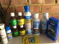 Job lot of 10 fish tank chemical