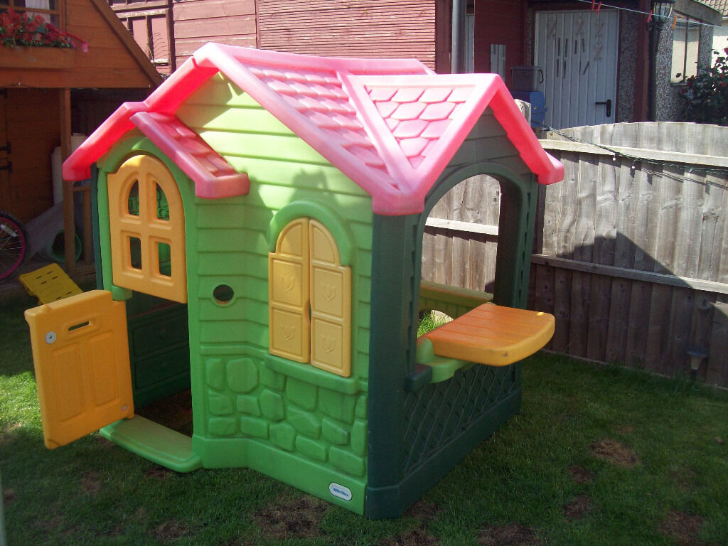 Little Tikes Imagine Sounds Plastic Green Yellow Garden Play House Tykes Cottage In Brimington