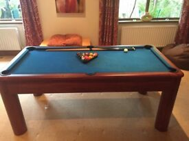 6 foot solid wooden leg Pool Table