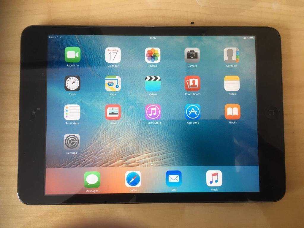 IPad Air 16GB Cellular Unlocked Very good conditionin Milton Keynes, BuckinghamshireGumtree - iPad mini 16GB space grey cellular Unlocked, very good condition, screen protector fitted Can take any sim.With charger only Can deliver £145