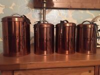 Copper effect Kitchen cannisters