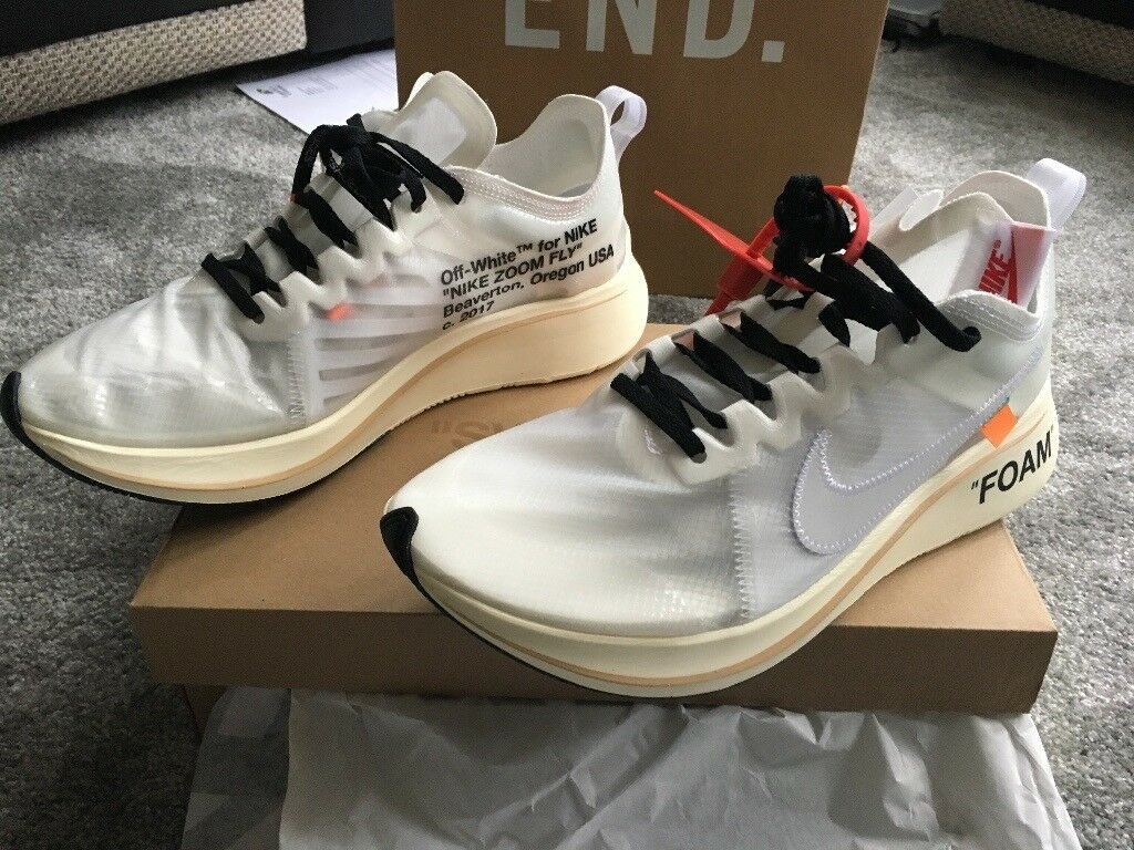 best sneakers 7a040 afc17 Nike zoom fly X Virgil abloh uk size 9 off white the ten