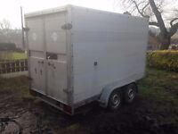 Heinnemann 10 x 5 tow a van box trailer twin axle braked