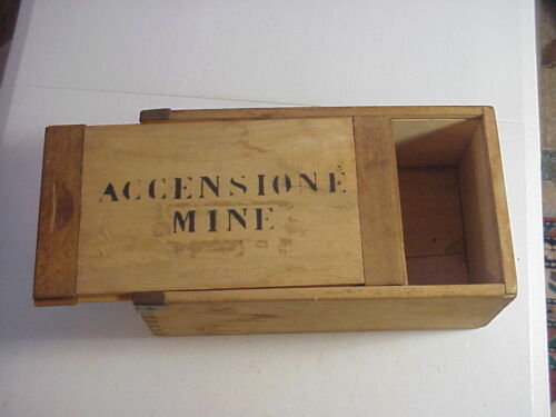 Antique DYNAMITE CARRYING BOX from ACCENSIONE MINE PA Coal Mine Collectible