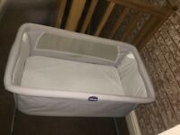 Chicco Next to Me side sleeping Crib cot with travel bag
