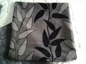 4 x Grey Cushion Covers with black and silver design in VGC