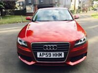 Audi A4 B8 2.0 TDI SE 4dr in Red, Excellent condition! Drives like New, 70mpg, 2010, FSH