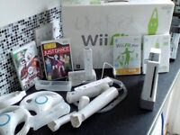 Nintendo Wii with Wii Fit Balance board and accessories - excellent condition