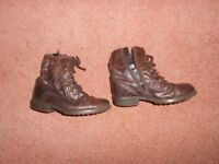 girls leather boots, from next, size 9, very comfortable