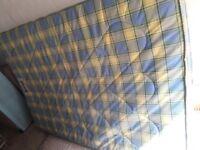 """Double mattress sprung. 4'6"""""""