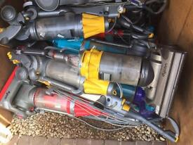 Job lot of 10 Dyson vacuum cleaners dc07 dc14 dc15
