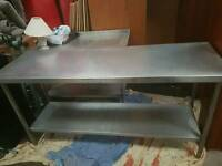 Stainless steel table5ft for sale good condition