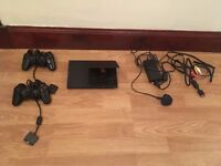 Playstation 2 ps2 slim and 54 games